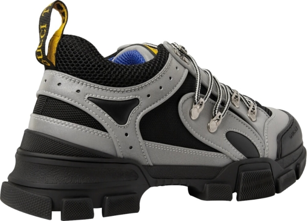 Gucck Black Grey Reflective Sneakers