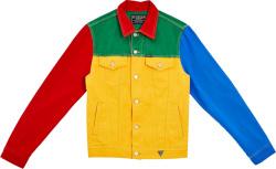 Guess J Balvin Colorblock Denim Jacket