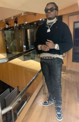 Gunna Wearing Louis Vuitton Millionaire Sunglasses Raf Simons Sweater Lv Sneakers And Balenciaga Belt