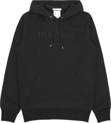 Helmut Lang Black Logo Embroidered Hoodie