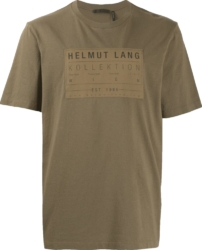 Helmut Lang Brown Printed Shirt
