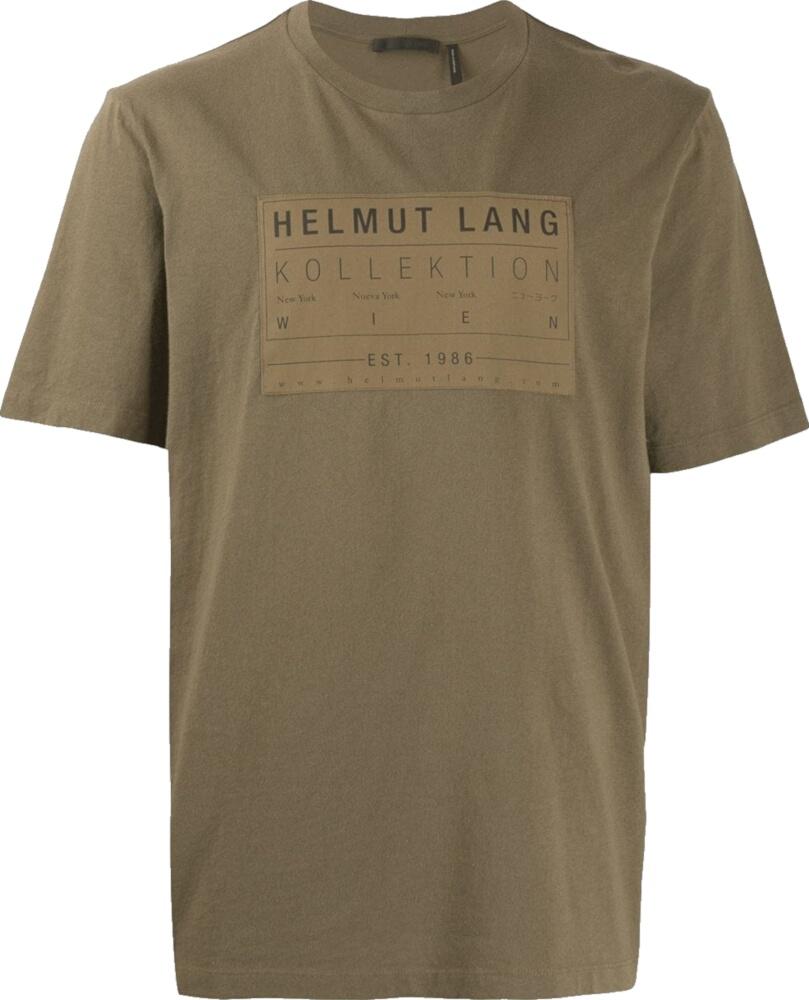 Helmut Lang Brown Printed Shirt