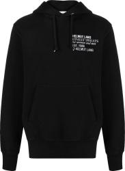 Helmut Lang Finest Sweats Print Black Hoodie
