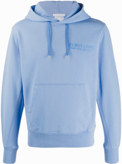 Helmut Lang Light Blue Hoodie