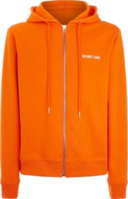 Helmut Lang Orange Zip Hoodie