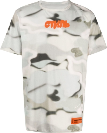 Heorn Preston Grey Camo Print T Shirt
