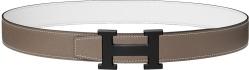 Black '5382' Buckle White Belt
