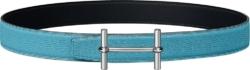 Hermes H D'ancre Blue Leather Belt