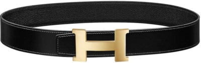 Hermes Black Belt With Black Leather Strap Worn By A Boogie