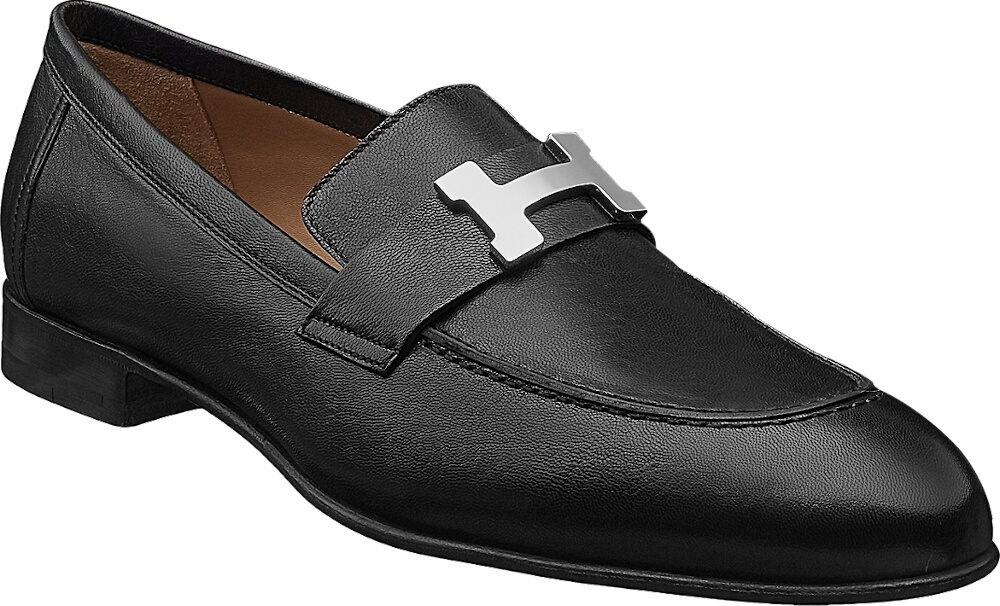 Hermes Black Paris Loafers