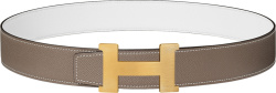 Hermes Brown Leather And Gold Constance Belt