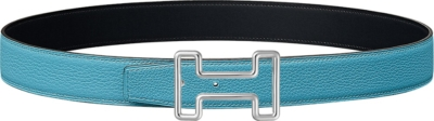 Hermes Light Blue Leather Belt
