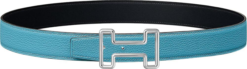 Hermes Light Blue Leather Belt