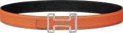 Hermes Orange Tonight Buckle Belt