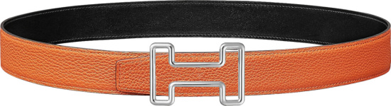 Hermes Orange Tonight Buckle Belt