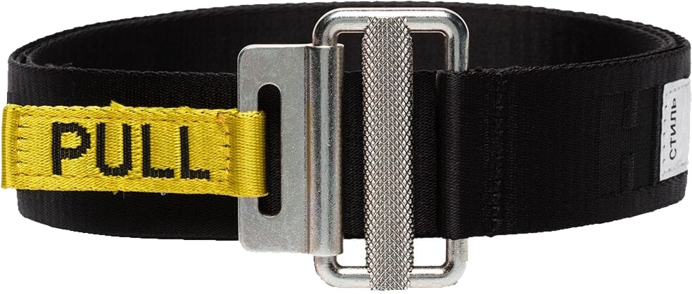 Heron Preston Black Logo Belt