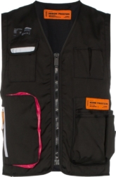 Heron Preston Black Logo Patch Tool Vest