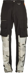 Heron Preston Camo Panel Black Cargo Pants