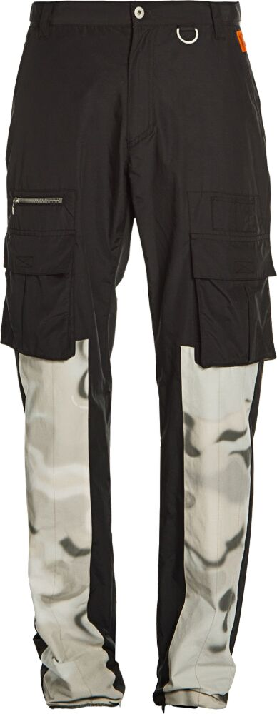 Heron Preston Camo Panel Black Cargo Pants