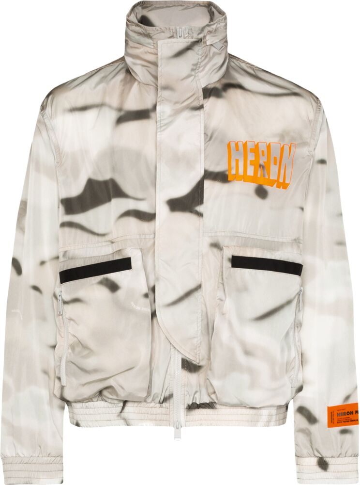 Heron Preston Grey Camo Print Jacket