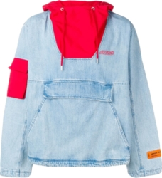 Heron Preston Hooded Denim Jacket