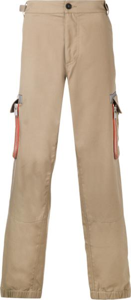 Heron Preston Khaki Cargo Pants