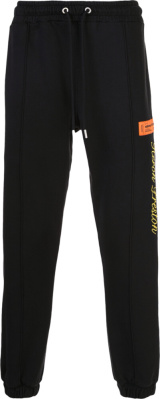 Heron Preston Logo Embroidered Black Joggers