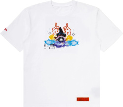 Heron Preston White Wizard And Crystal Ball T Shirt