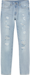 H&m Distressed Blue Thrashed Jeans