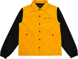 Homme Femme Yellow And Black Coaches Jacket