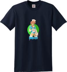 Hookups Vintage Nurse Print T Shirt