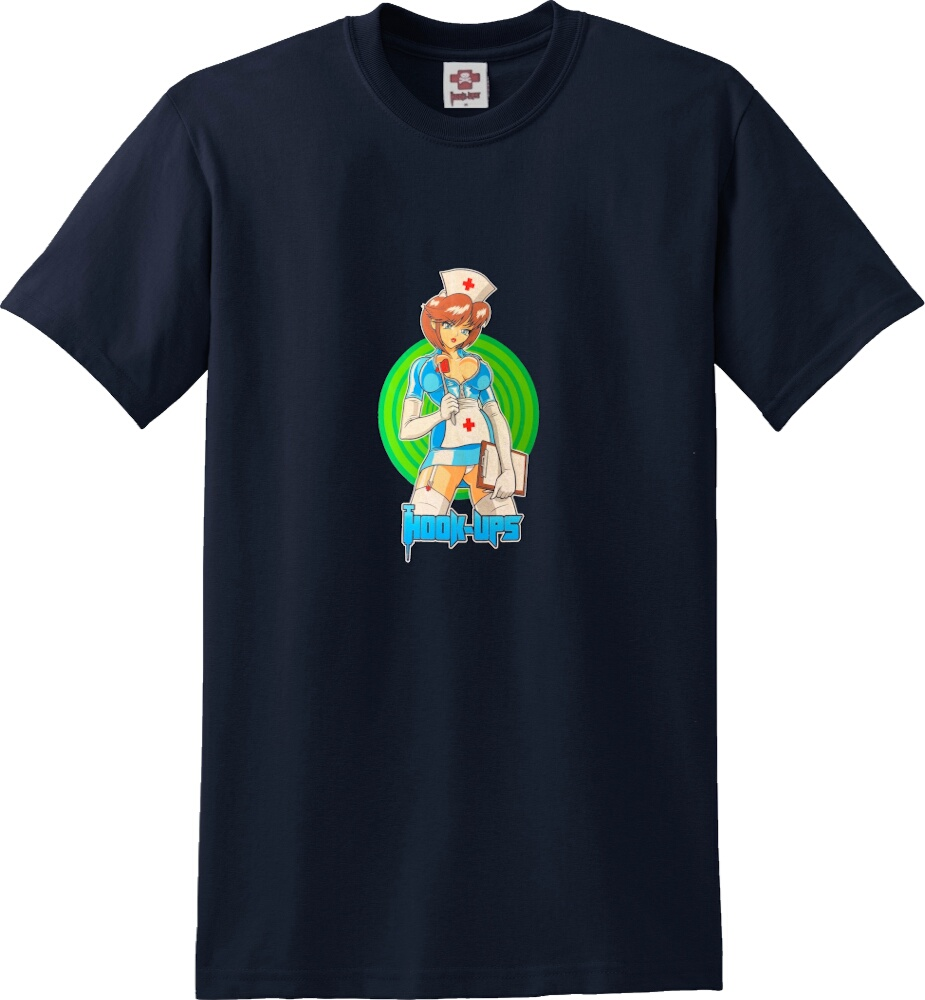 Vintage Anime Nurse Print T-Shirt