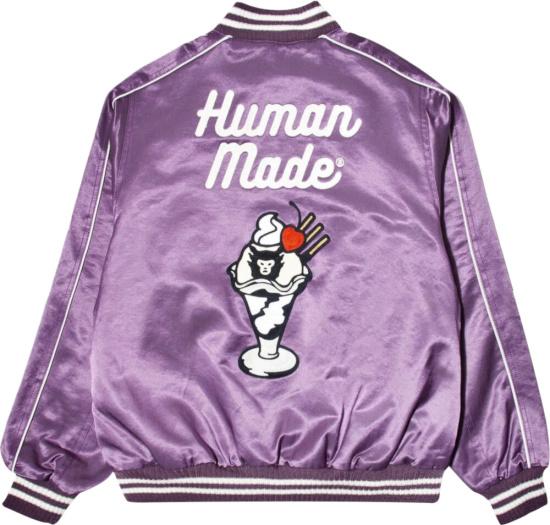 Human Made Purple Satin Sundae Jacket