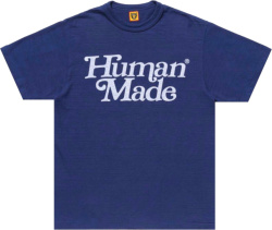 Human Made X Girls Dont Cry Navy Logo T Shirt