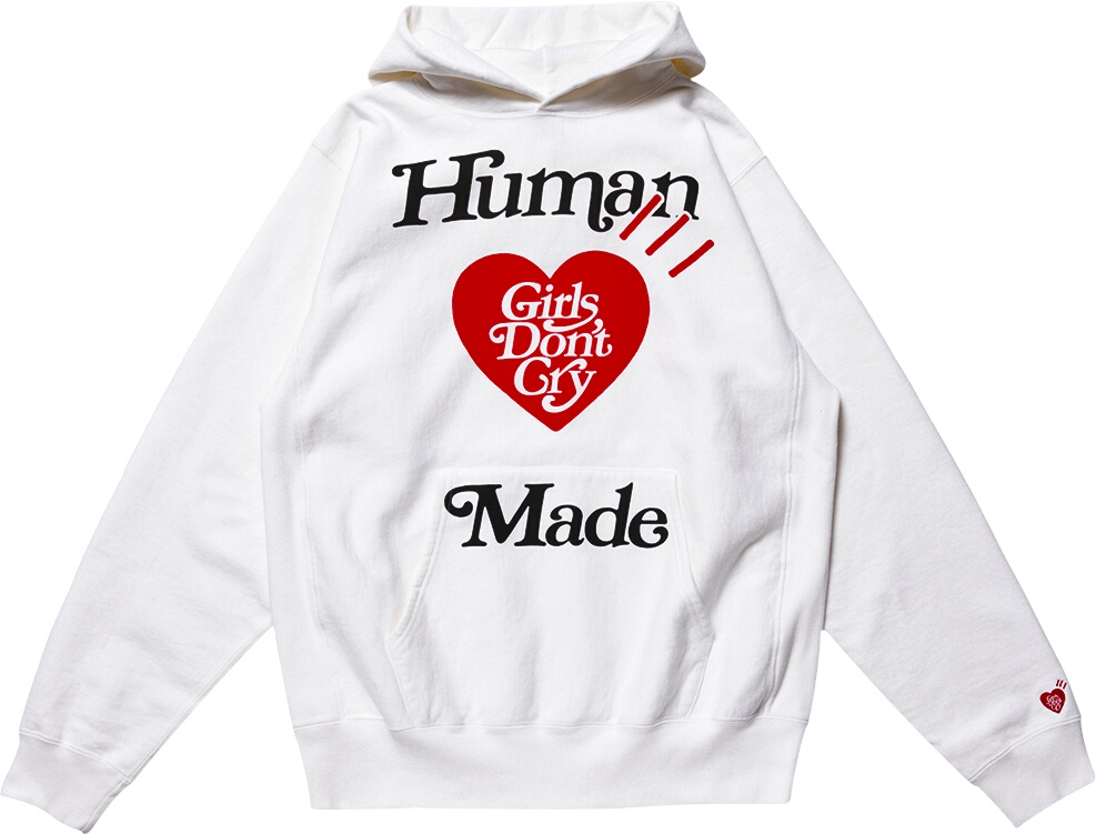 Human Made X Girls Dont Cry White Hoodie
