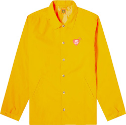 Human Made Yellow Dry Alls Coach Jacket