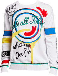 Looney Tunes 'Thats All Folks' White Sweater