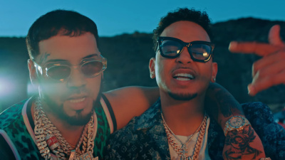 Incorporated Style Cover Image For Anuel Aa Ozuna Dime TÚ Muisc Video