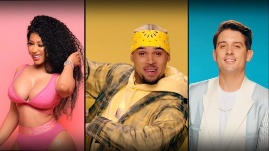 Incorporated Style Cover Image For Chris Brown And G Eazy Wobble Up Music Video