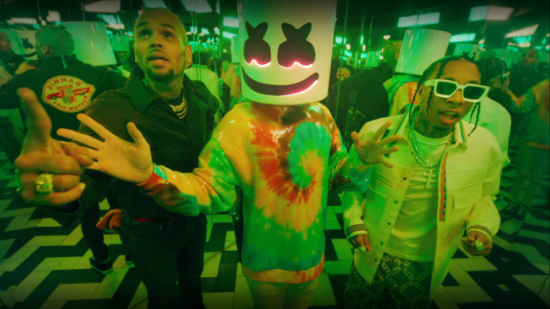 Incorporated Style Cover Image For Marshmellow Tyga And Chris Brown Light It Up Music Video