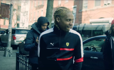 Incorporated Style Cover Image For Neek Buck Energy Music Video Featuring Lil Durk Wearing A Puma Jacket And Sneakers With Alexander Mcqueen Socks