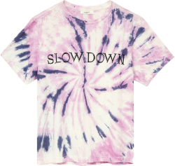 Isabel Marant Purple And Pink Tie Dye Slow Down T Shirt
