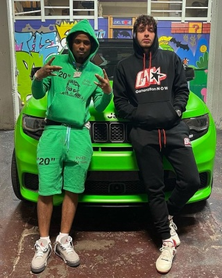 Jack Harlow Wearing A Generation Now Hoodie And Joggers With New Balance Sneakers