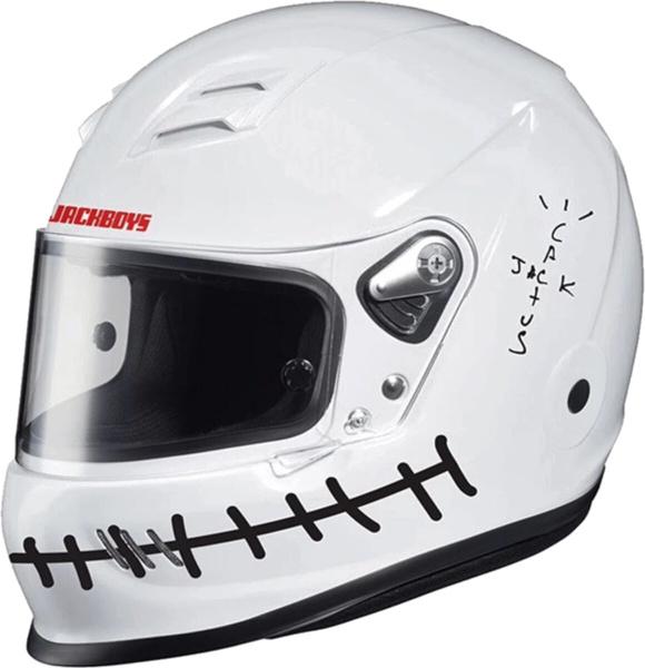 Jackboys White Moto Helmet