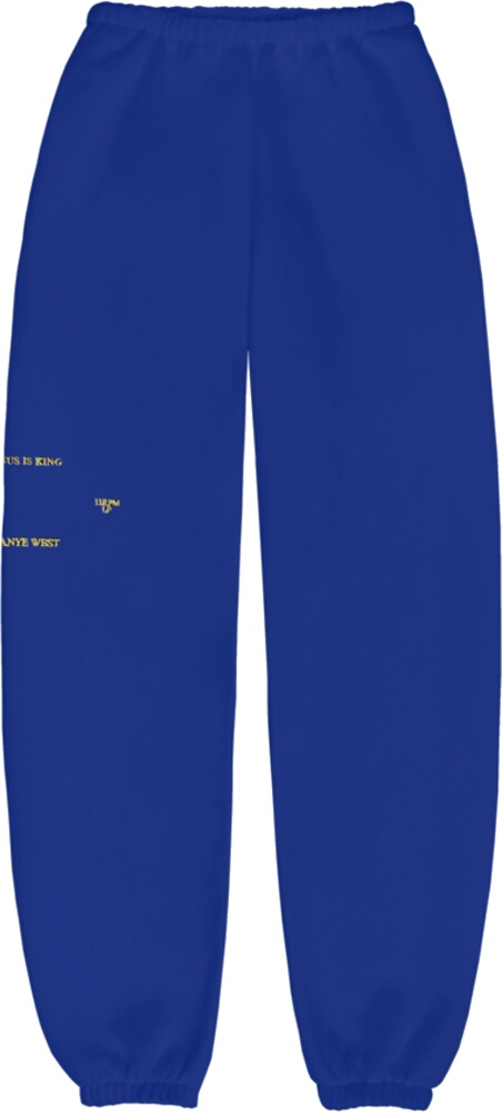 Jesus Is King Blue Sweatpants