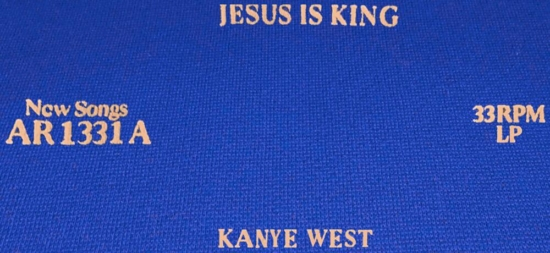 Jesus Is King Vinyl Blue Sweatpants