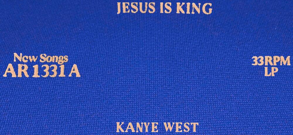 Jesus Is King Vinyl Blue Sweatpants