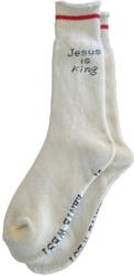 Jesus Is King White Socks