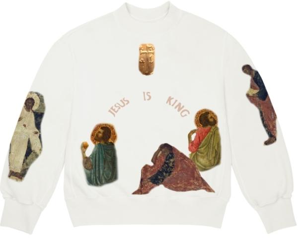 Jesus Is King White Sweatshirt