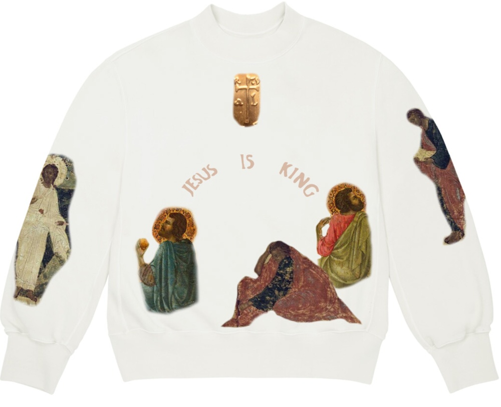 Jesus Is King x AWGE White Sweatshirt